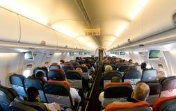 Innenraum von einem Boeing Lizenzfreies Stockbild
