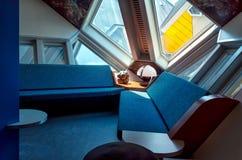 Innenraum von einem der Würfel-Häuser entwarf durch Piet Blom, Rotter Stockfoto