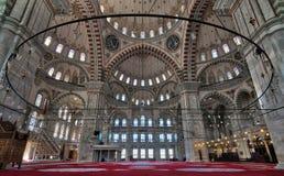 Innenraum von Fatih-Moschee, Istanbul, die Türkei Lizenzfreies Stockfoto