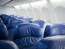 Innenraum von Flugzeugbeifahrersitzen Lizenzfreie Stockfotos