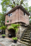 Innenraum von Fort Zeelandia in Paramaribo, Surinam lizenzfreie stockfotografie