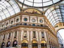 Innenraum von Galleria Vittorio Emanuele II in Mailand stockfoto
