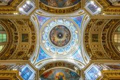 Innenraum von Heilig-Isaacs Kathedrale in St Petersburg Lizenzfreies Stockfoto