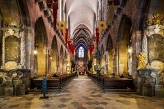 Innenraum von Johannes die Baptist-Kathedrale, Wroclaw, Polen Lizenzfreie Stockfotografie