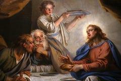 Innenraum von Kirche St. Louis du Louvre, Paris, Frankreich stockbilder