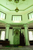 Innenraum von Kuala Lumpur Jamek Mosque in Malaysia Lizenzfreie Stockfotos
