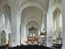 Innenraum von Lübeck-Kathedrale, Deutschland Stockfotos
