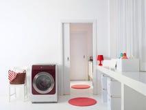 Innenraum von Luxuswaschküche L Lizenzfreie Stockfotos
