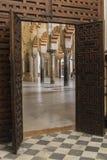 Innenraum von Mezquita-Catedral, UNESCO-Welterbestätte, Cordo Stockfotos