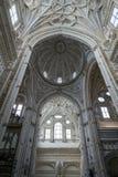 Innenraum von Mezquita-Catedral, UNESCO-Welterbestätte, Cordo Lizenzfreies Stockbild
