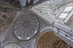 Innenraum von Mezquita-Catedral, UNESCO-Welterbestätte, Cordo Stockfotografie