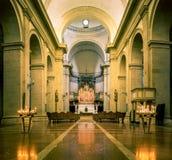 Innenraum von Montepulciano-Kathedrale stockbilder