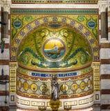 Innenraum von Notre-Dame-De-La Garde in Marseille Lizenzfreie Stockbilder
