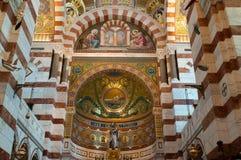 Innenraum von Notre Damede-La Garde Lizenzfreie Stockbilder