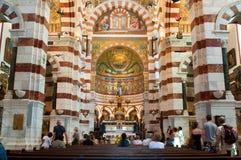 Innenraum von Notre Damede-La Garde Stockfoto