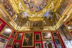 Innenraum von Palazzo Pitti, Florenz, Italien Stockfotos