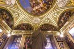 Innenraum von Palazzo Pitti, Florenz, Italien Stockbild