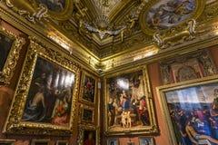 Innenraum von Palazzo Pitti, Florenz, Italien Lizenzfreies Stockfoto