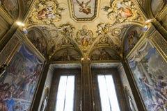 Innenraum von Palazzo Pitti, Florenz, Italien Stockbilder