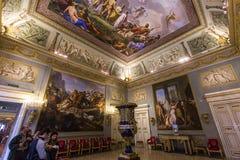 Innenraum von Palazzo Pitti, Florenz, Italien Stockfotografie