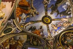 Innenraum von Palazzo Vecchio, Florenz, Italien Lizenzfreies Stockfoto