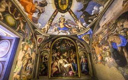 Innenraum von Palazzo Vecchio, Florenz, Italien Stockfotografie