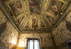 Innenraum von Palazzo Vecchio, Florenz, Italien Stockfoto