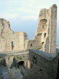 Innenraum von Sacra di San Michele, italienische mittelalterliche Abtei Lizenzfreies Stockbild