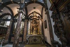 Innenraum von sainte Anne-chrurch, Brügge, Belgien Stockfotos