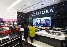 Innenraum von Sephora-Speicher in Kuala Lumpur Stockbilder