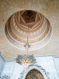 Innenraum von Sheikh Zayed Grand Mosque in Abu Dhabi, das Kapital Lizenzfreie Stockfotos