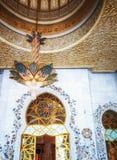 Innenraum von Sheikh Zayed Grand Mosque in Abu Dhabi, das Kapital Stockfotos