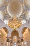 Innenraum von Sheikh Zayed Grand Mosque, Abu Dhabi, Vereinigte Arabische Emirate Lizenzfreies Stockfoto