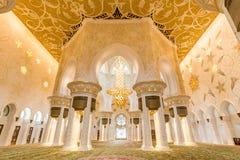 Innenraum von Sheikh Zayed Grand Mosque, Abu Dhabi, Vereinigte Arabische Emirate Lizenzfreie Stockfotografie