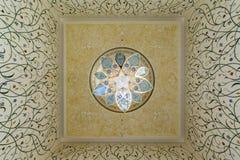 Innenraum von Sheikh Zayed Grand Mosque in Abu Dhabi, Vereinigte Arabische Emirate Stockbilder