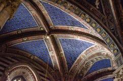 Innenraum von Siena Cathedral in Toskana, Italien, im August 2016 Lizenzfreie Stockbilder