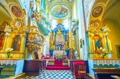 Innenraum von St. Andrew Church in Krakau, Polen stockfotos