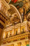 Innenraum von St. Isaac Cathedral Stockfotografie