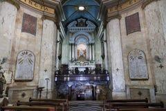 Innenraum von Stella Maris Church haifa israel lizenzfreies stockbild