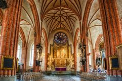 Innenraum von Stockholm-Kathedrale Lizenzfreies Stockfoto