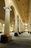 Innenraum von Sultan Abu Bakar State Mosque in Johor Bharu, Malaysia Lizenzfreie Stockbilder