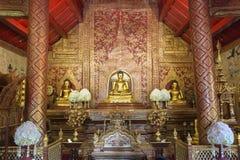 Innenraum von Wat Phra Singh, Chiang Mai, Thailand Stockfotografie