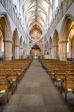 Innenraum von Wells-Kathedrale Lizenzfreies Stockfoto