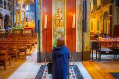 Innenraum von Westminster-Kathedrale oder von Stadtkathedrale des kostbaren Bluts von unserem Lord Jesus Christ in London, Großbr lizenzfreie stockfotografie