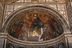 Innenraumdetail Florenz-San Miniato Stockfoto