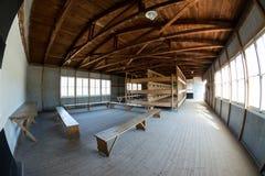 Innenraumkasernen von Dachau-Konzentrationslager Stockfotos