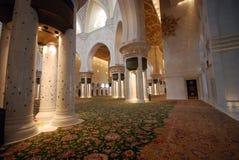Innenscheich Zayed Grand Mosque Stockbilder