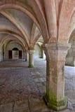 Innenschuß in Abbaye de Fontena Lizenzfreie Stockbilder