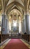 Innenstadt-Gemeinde-Kirche in Budapest stockbilder