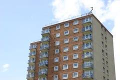 Innenstadt-Kontrollturm-Block stockbilder